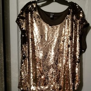 Sequins gold top